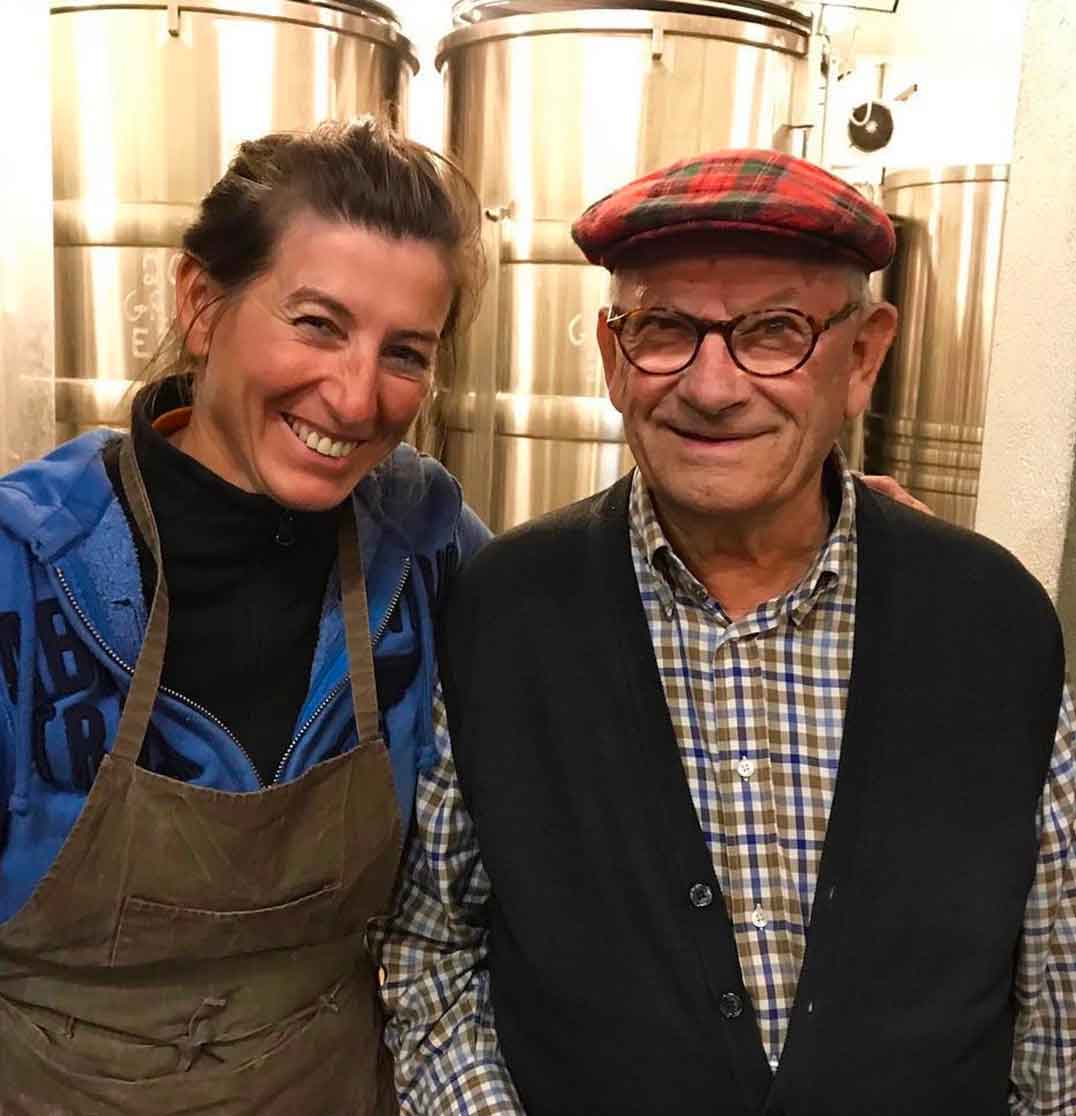 Claudine and François Gaunoux in the winery