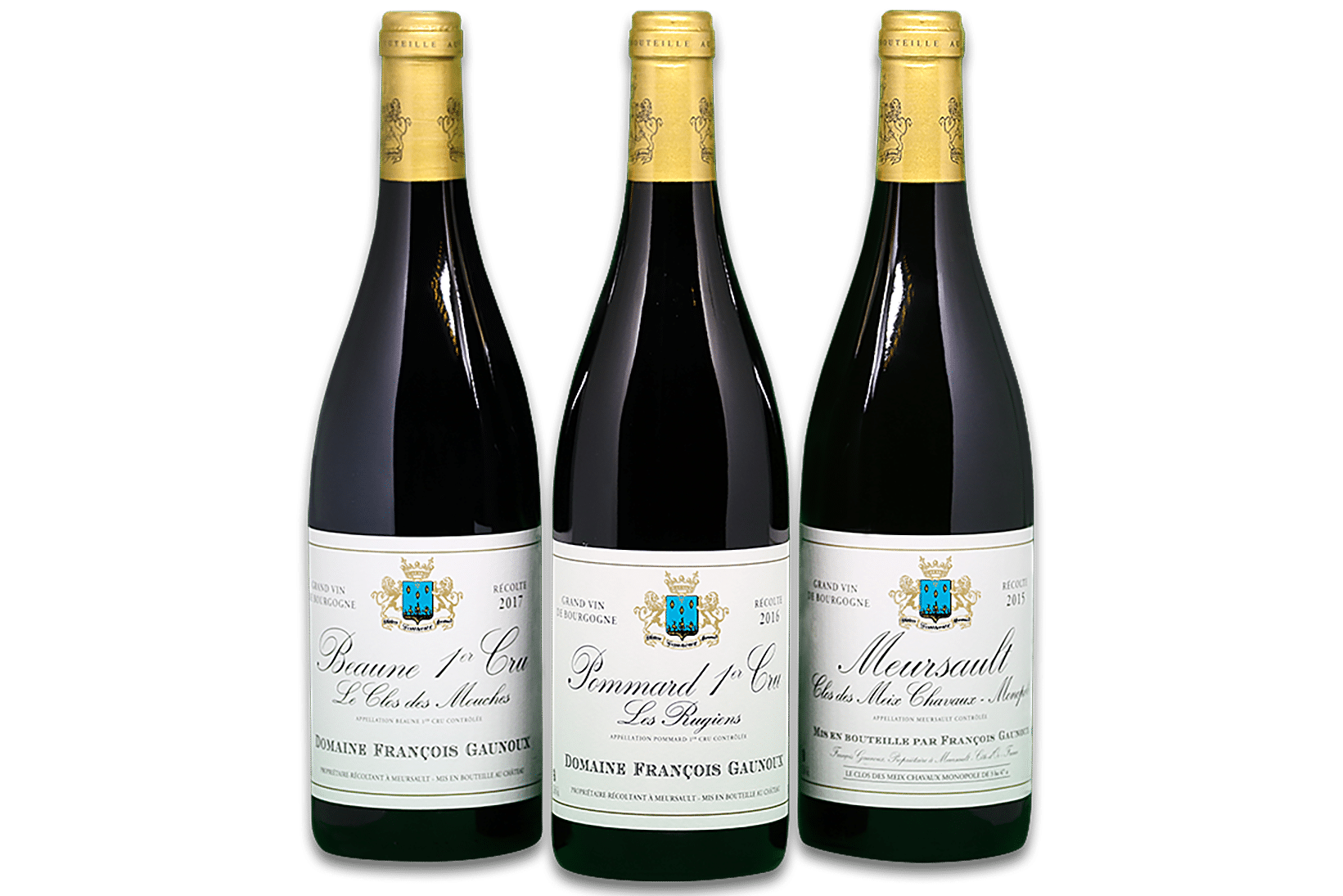 Great Burgundy Wine Bottles